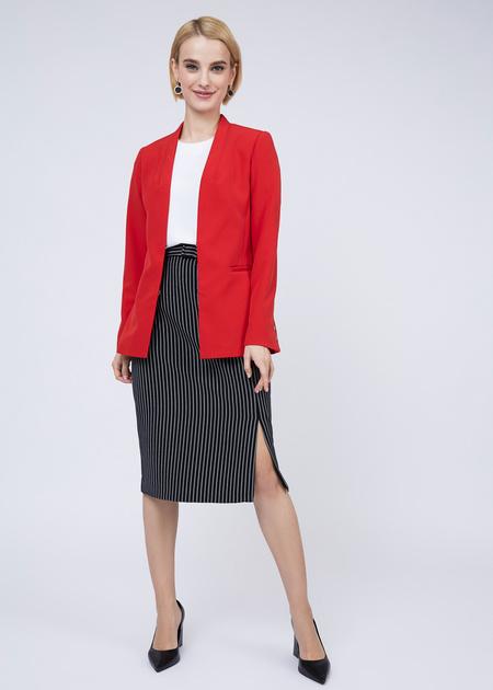 Облегающая юбка с боковым разрезом - фото 2