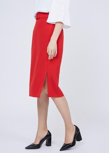 Облегающая юбка с боковым разрезом - фото 3