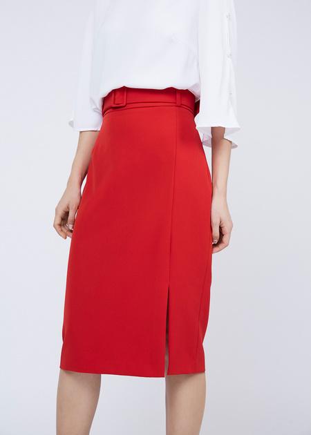 Облегающая юбка с боковым разрезом - фото 4