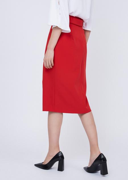 Облегающая юбка с боковым разрезом - фото 5