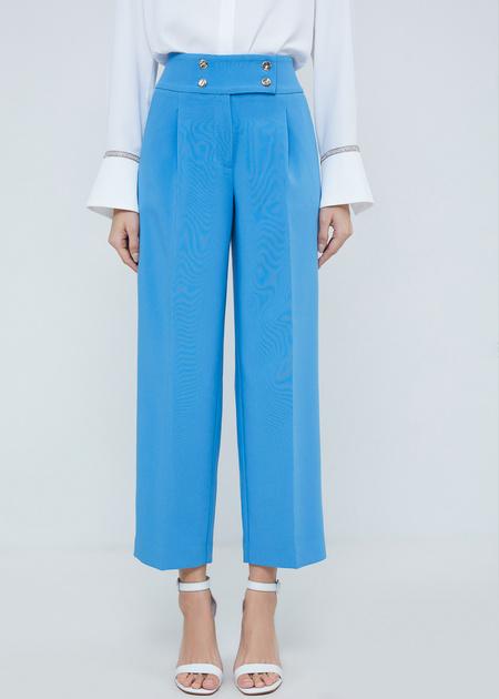 Укороченные брюки с защипами - фото 3