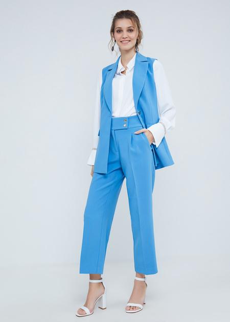 Укороченные брюки с защипами - фото 5