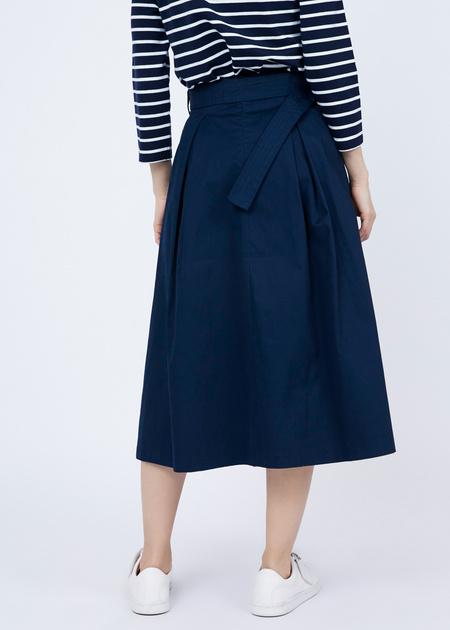 Хлопковая юбка-макси с поясом - фото 6
