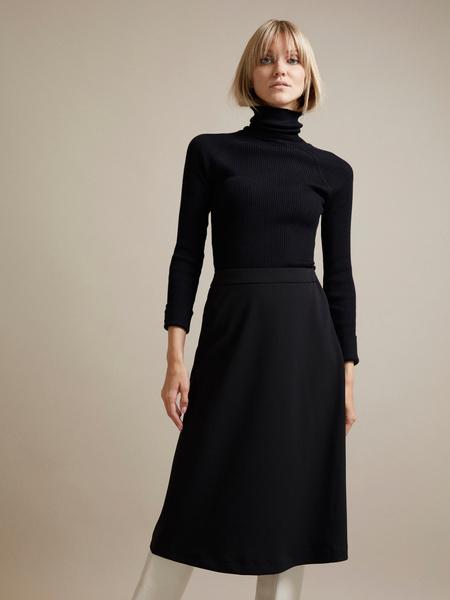 Расклешенная юбка-миди  - фото 1