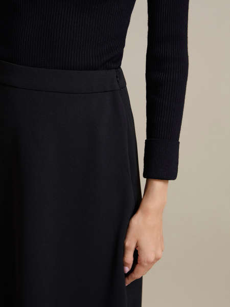 Расклешенная юбка-миди  - фото 3