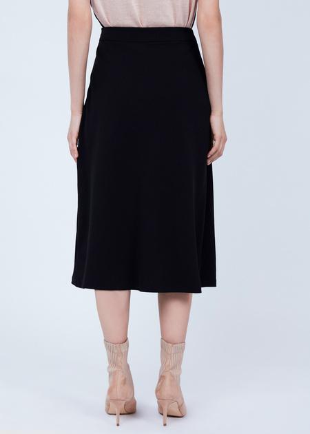 Расклешенная юбка-миди  - фото 6
