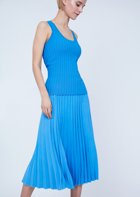 Плиссированная юбка-миди - фото 2