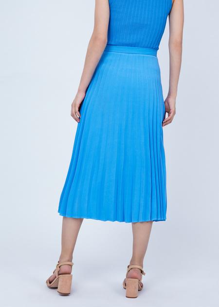 Плиссированная юбка-миди - фото 6