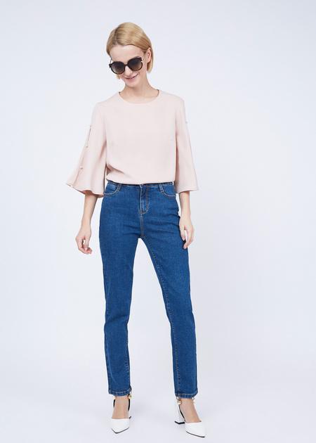Зауженные джинсы из хлопка - фото 1