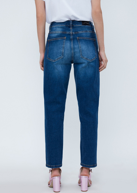 Прямые джинсы с бусинами - фото 5