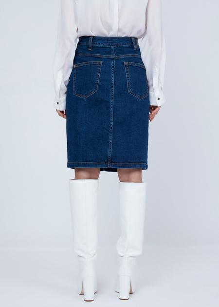 Облегающая юбка из денима - фото 5