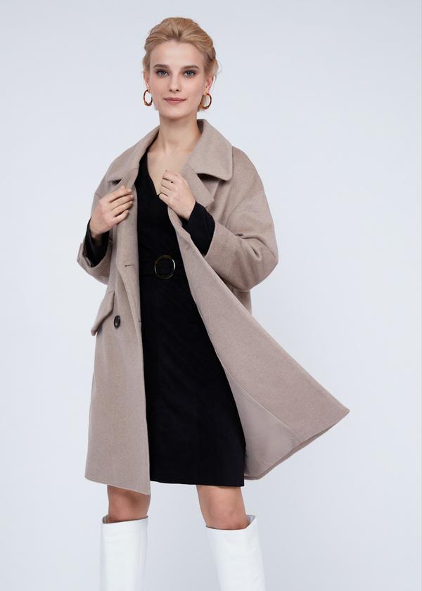 Двубортное пальто полушерсть - фото 2