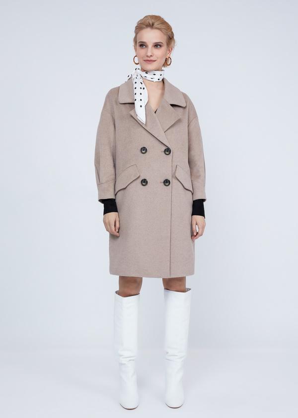 Двубортное пальто полушерсть - фото 6