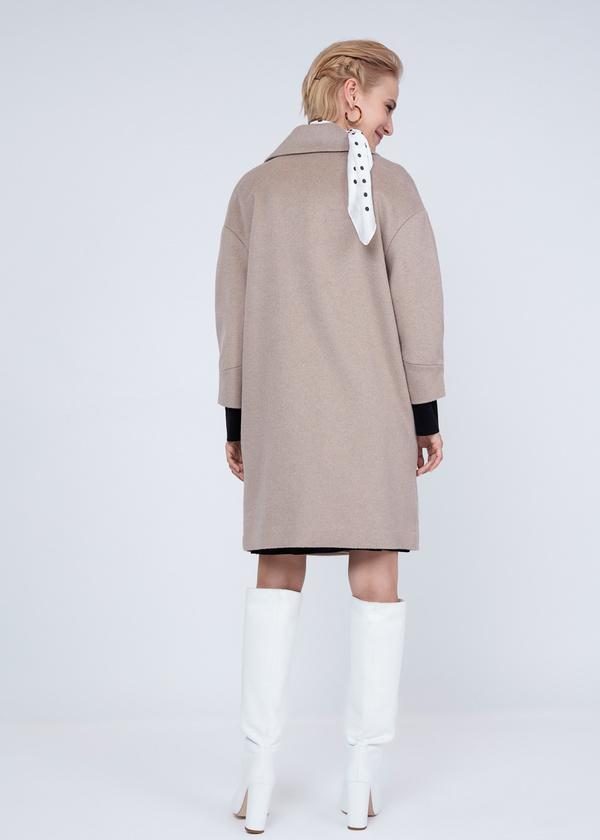 Двубортное пальто полушерсть - фото 7