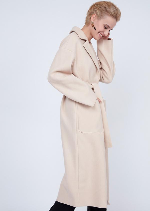 Пальто оверсайз с накладным карманами - фото 2
