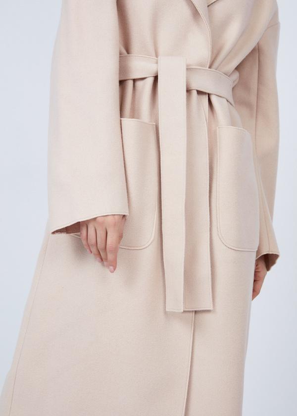 Пальто оверсайз с накладным карманами - фото 3