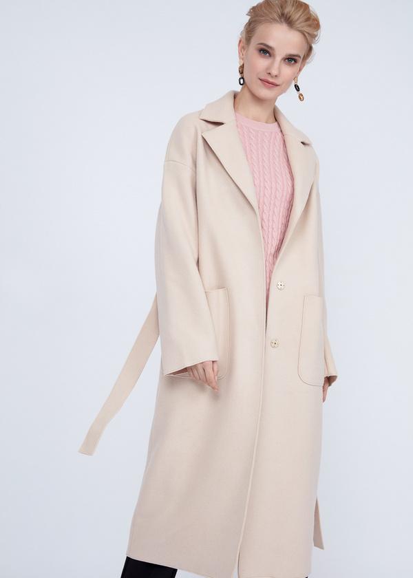 Пальто оверсайз с накладным карманами - фото 4