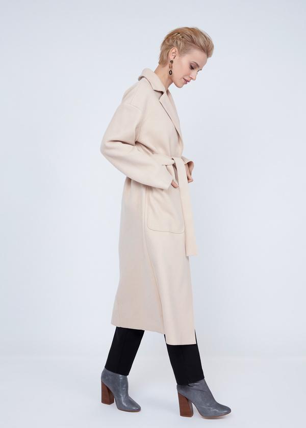 Пальто оверсайз с накладным карманами - фото 5