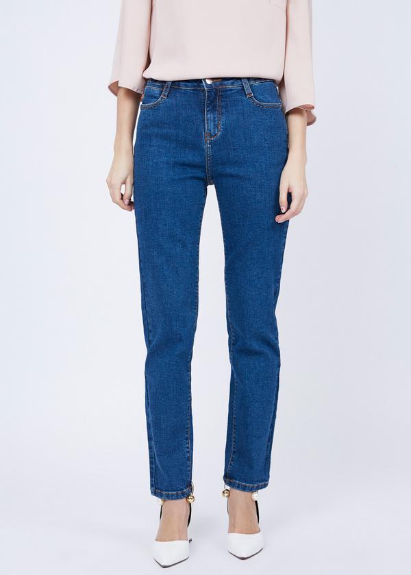 Зауженные джинсы из хлопка - фото 2