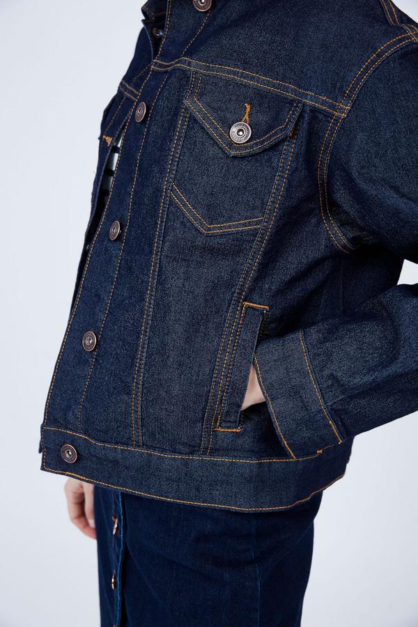 Джинсовая куртка оверсайз - фото 5