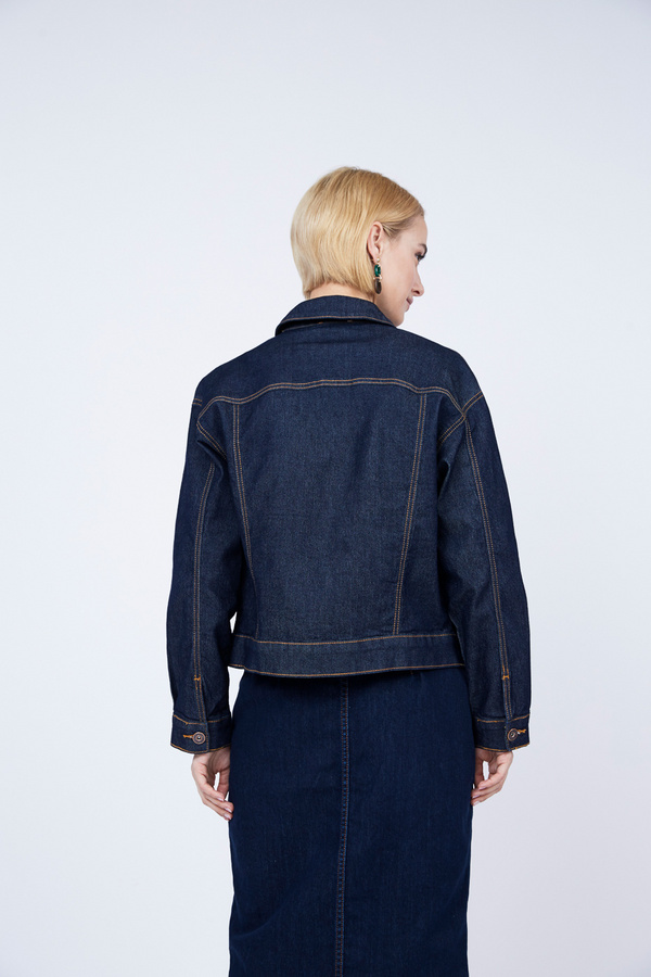 Джинсовая куртка оверсайз - фото 6