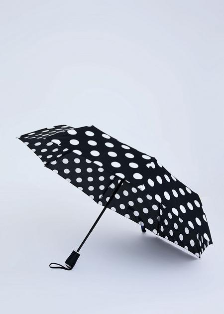 Складной зонт в горошек - фото 1