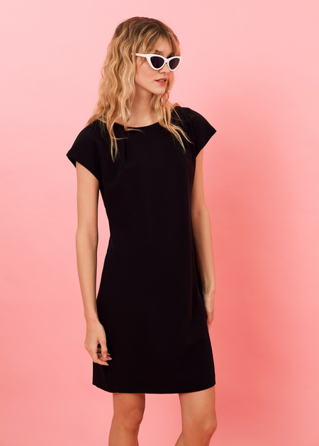 Платье-мини с плечами-ракушками - фото 3