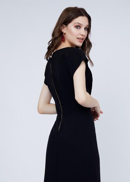 Платье-мини с плечами-ракушками - фото 7