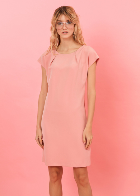 Платье-мини с плечами-ракушками - фото 4