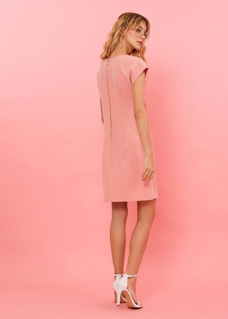 Платье-мини с плечами-ракушками - фото 5