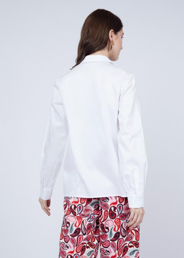 Хлопковая блузка с вышивкой - фото 5