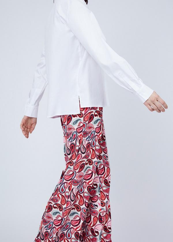 Хлопковая блузка с вышивкой - фото 6