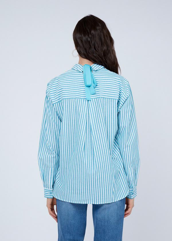 Хлопковая рубашка с завязками на спине - фото 6