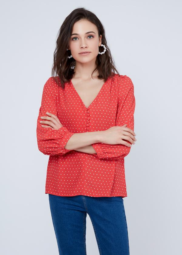 Блузка в мелкий горох - фото 2