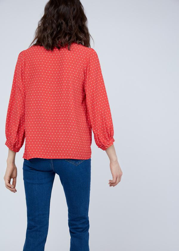 Блузка в мелкий горох - фото 5