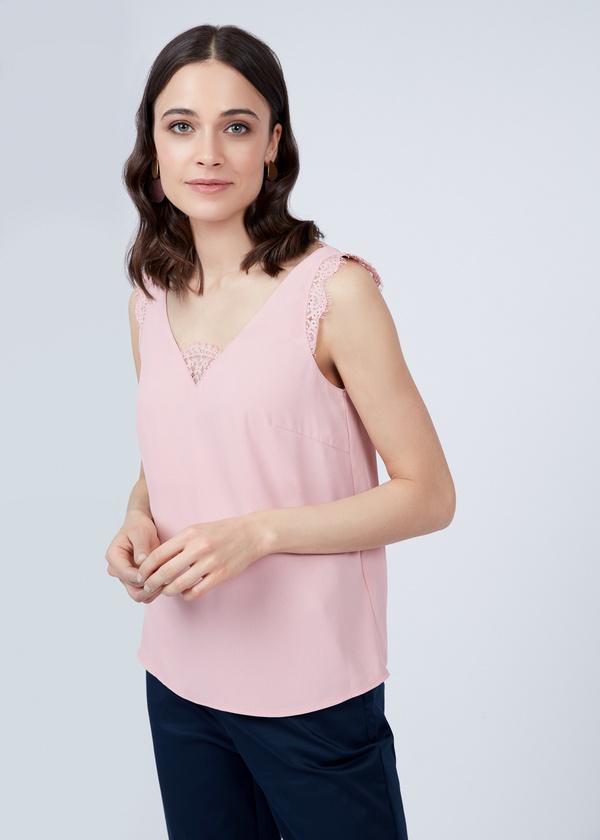 Блузка-топ с кружевом - фото 1