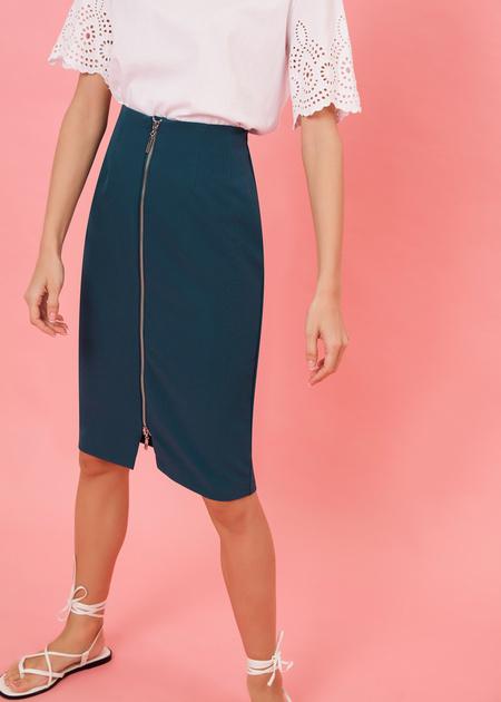 Фактурная юбка-миди с молнией - фото 2