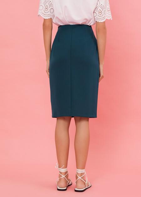 Фактурная юбка-миди с молнией - фото 4