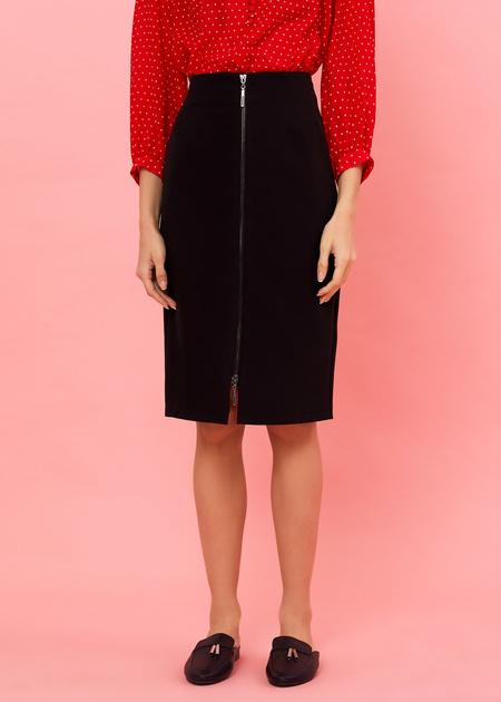 Фактурная юбка-миди с молнией - фото 3
