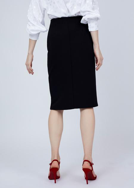 Фактурная юбка-миди с молнией - фото 5