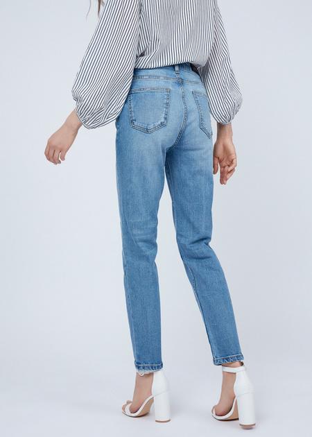 Зауженные джинсы из хлопка - фото 4