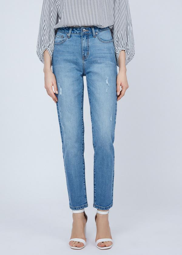 Зауженные джинсы из хлопка - фото 3