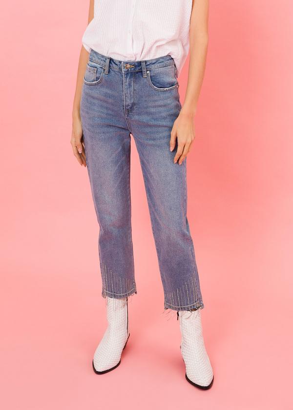 Укороченные брюки из плотного денима - фото 2