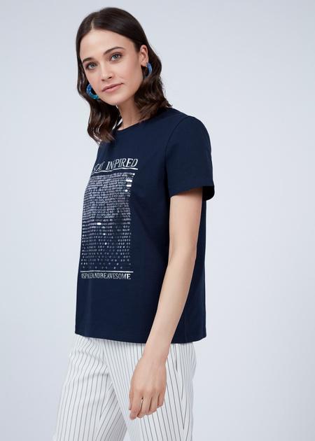 Хлопковая футболка с пайетками - фото 3