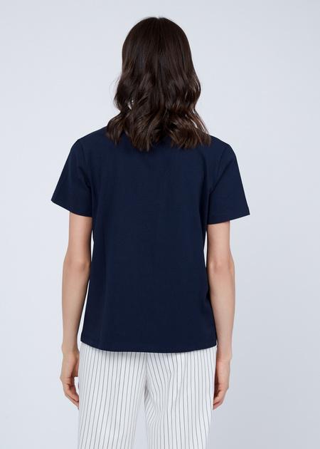 Хлопковая футболка с пайетками - фото 5