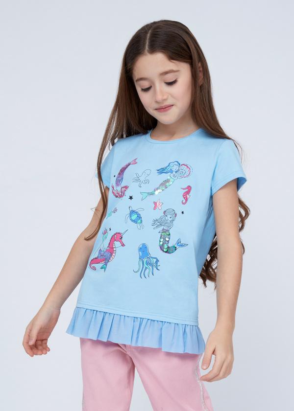 Хлопковая футболка с деталями - фото 1