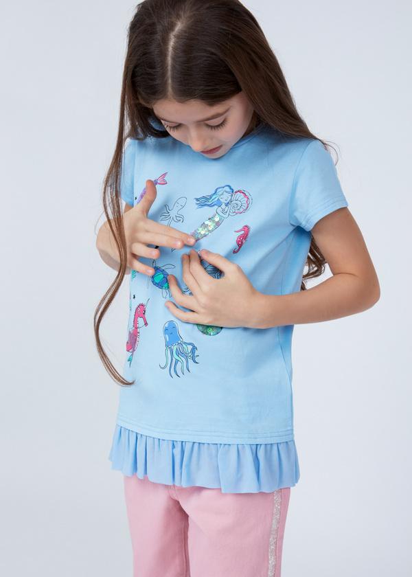 Хлопковая футболка с деталями - фото 4