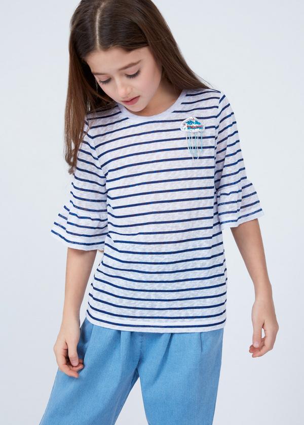 Хлопковая футболка с деталями - фото 2