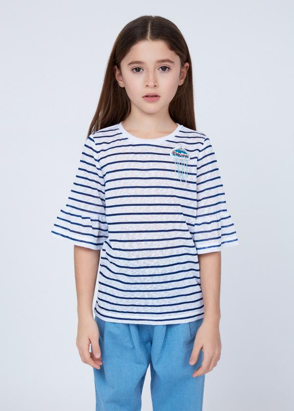 Хлопковая футболка с деталями - фото 3