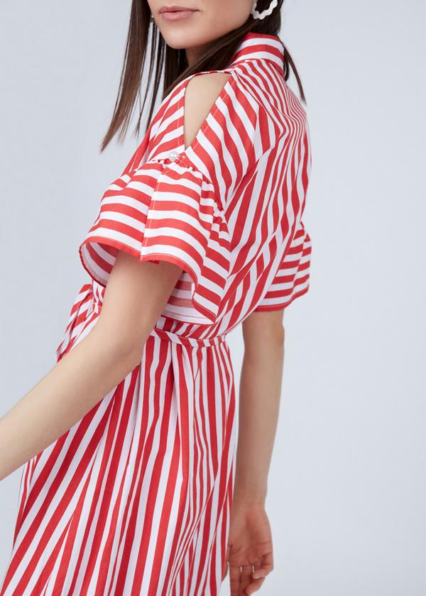 Платье-рубашка с асимметричным подолом - фото 3